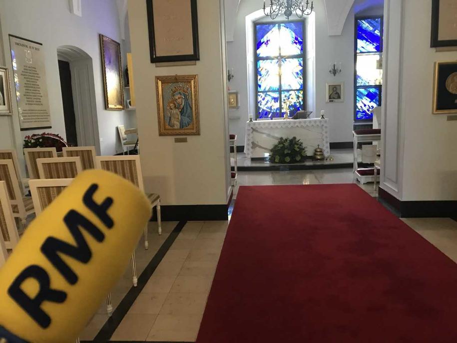 Kaplica prezydencka w Pałacu Prezydenckim w Warszawie /Michał Dobrołowicz /RMF FM