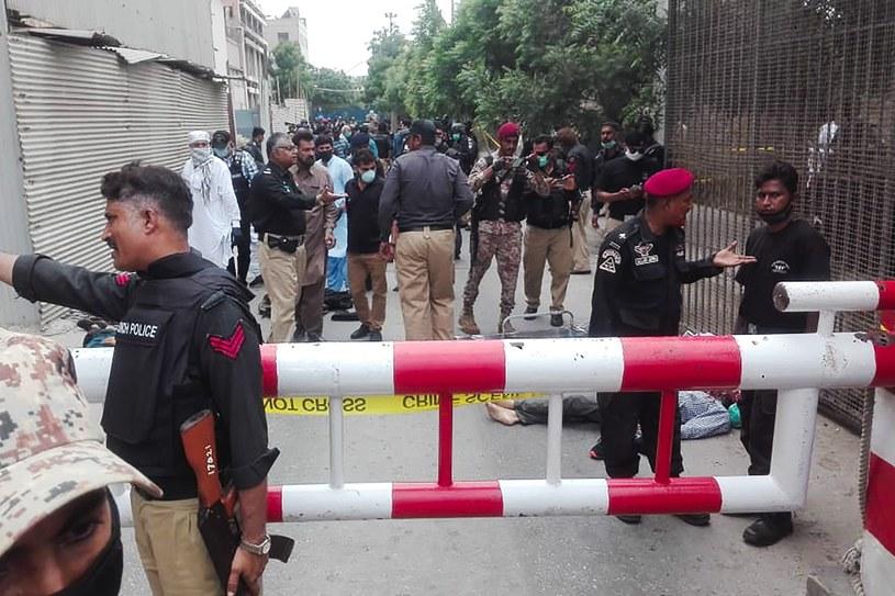 Karaczi po ataku na giełdę /AFP