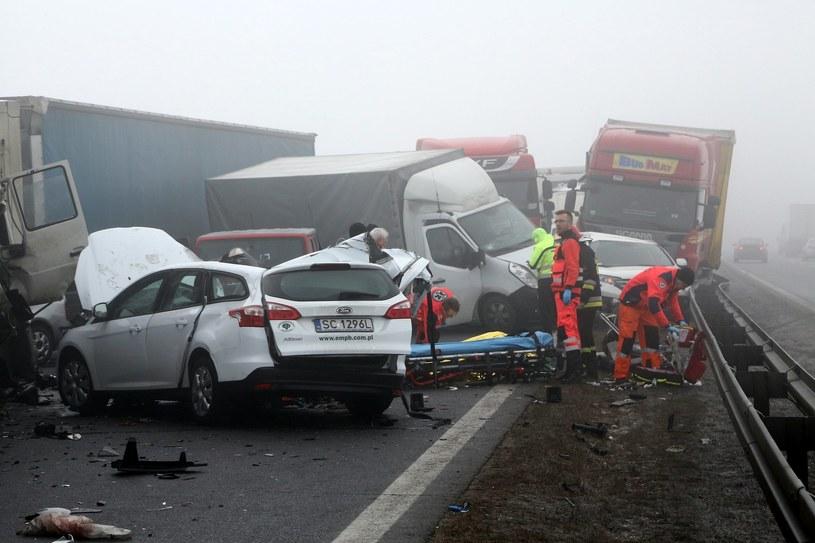 Karambol na autostradzie A1 /East News