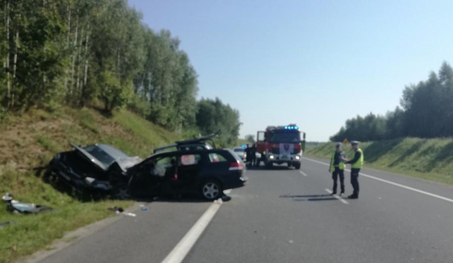 """Karambol na krajowej """"16"""" /KMP w Olsztynie /Policja"""