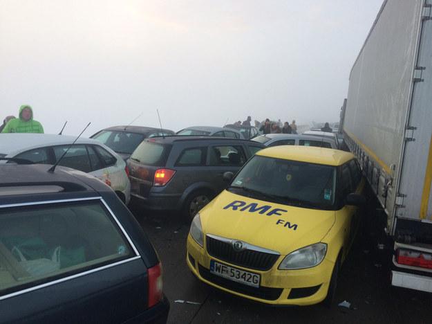 Karambol na łączniku miedzy Świdnicą a autostradą A4 na Dolnym Śląsku /Bartek Paulus /RMF FM