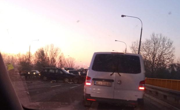 Karambol na moście na Wiśle w Zakroczymiu. Utrudnienia na S7
