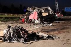 Karambol w Niemczech: Zginęło 10 Polaków