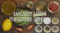 Karczochy z sosem pomidorowo-ziołowym