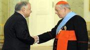 Kard. Józef Glemp odznaczony Orderem Orła Białego