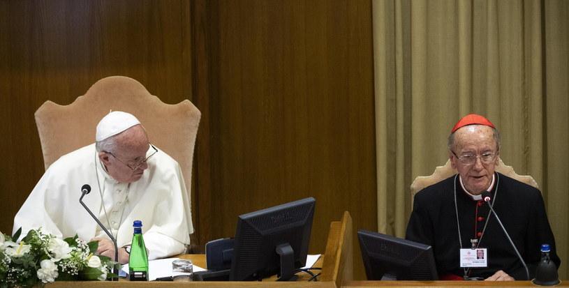 Kardynał Hummes z papieżem /CLAUDIO PERI /PAP