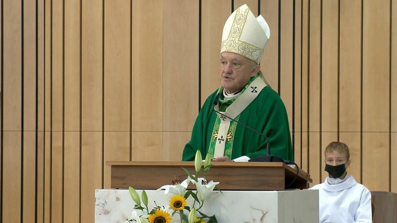 Kardynał Kazimierz Nycz wygłosił homilię w Świątyni Opatrzności Bożej /Polsat News /Polsat News