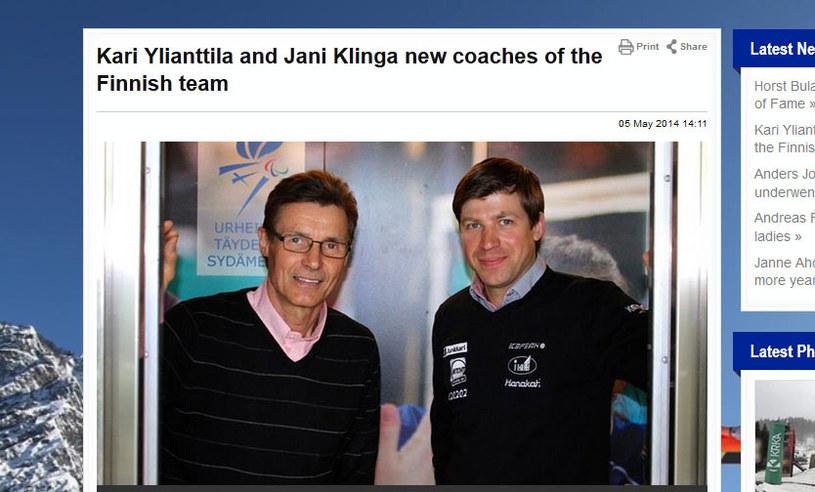 Kari Yliantilla i Jani Klinga / fot. http://www.fis-ski.com /INTERIA.PL