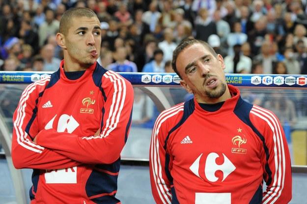 Karim Benzema i Franck Ribery /AFP