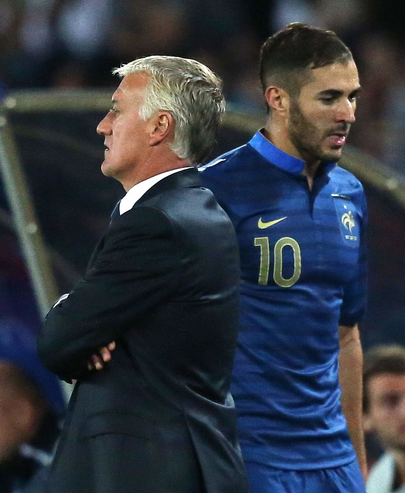 Karim Benzema i trener Didier Deschamps /AFP