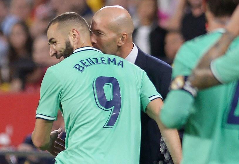 Karim Benzema i trener Zinedine Zidane /AFP