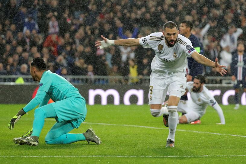Karim Benzema strzelił dwa gole dla Realu /PAP/EPA