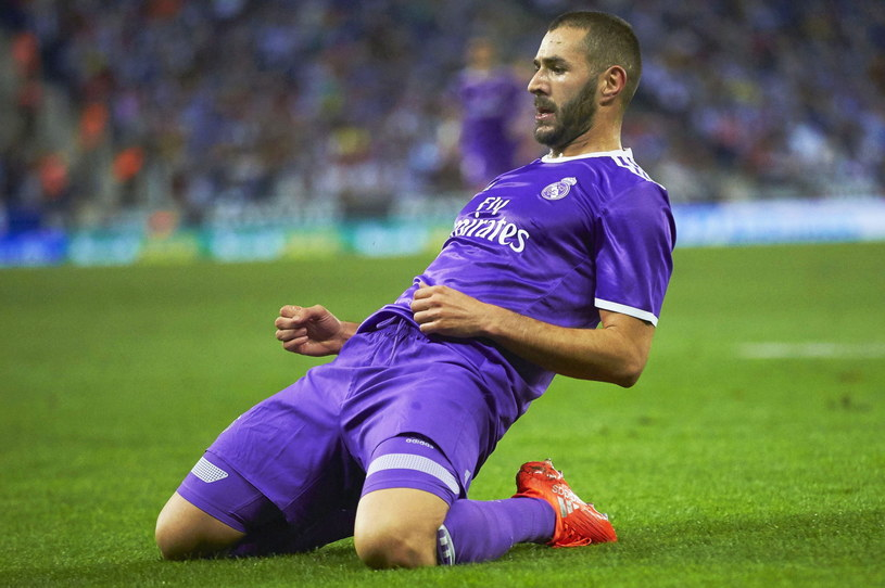 Karim Benzema strzelił gola w meczu z Espanyolem /PAP/EPA