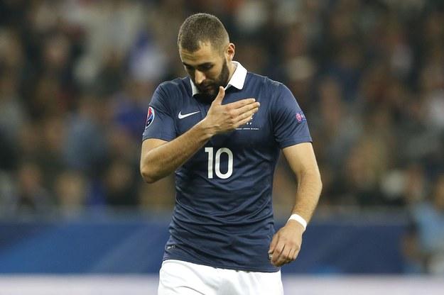 Karim Benzema w meczu Francji z Armenią. /AFP