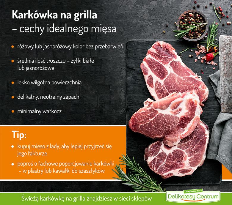 Karkówka na grilla – cechy idealnego mięsa - infografika /materiały promocyjne