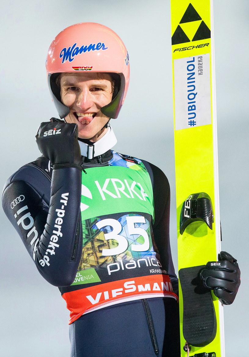 Karl Geiger został mistrzem świata w lotach narciarskich /Vid Ponikvar /PAP/EPA