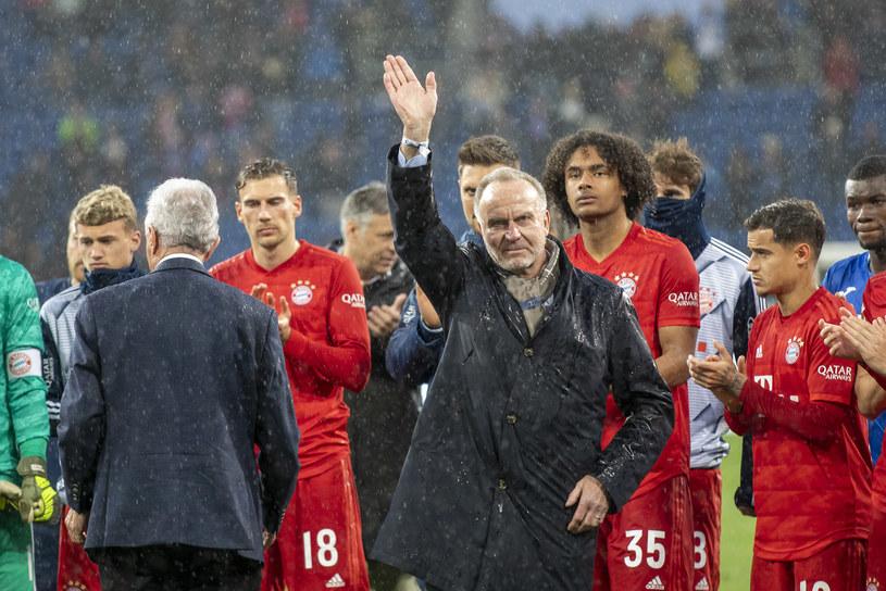 Karl-Heinz Rummenigge po meczu zszedł na murawę razem z prezesem Hoffenheim Dietmarem Hoppem /Getty Images