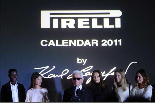 Karl Lagerfeld podczas uroczystości w Moskwie /AFP