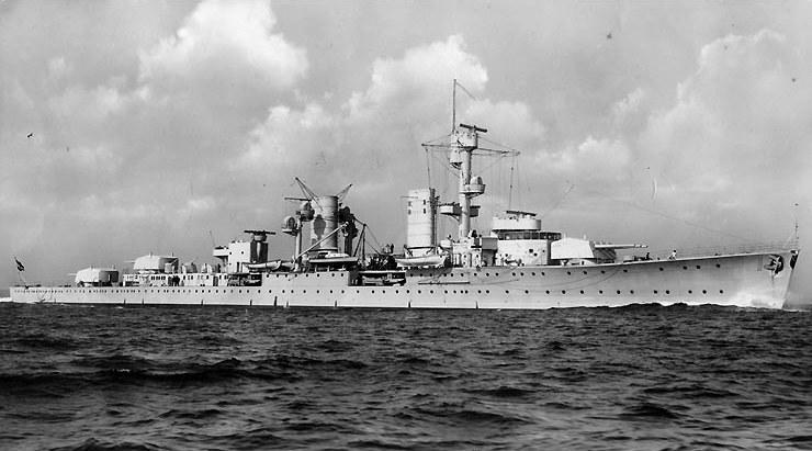 """Karlsruhe"" w latach 30. /U.S. Naval Historical Center Photograph /domena publiczna"
