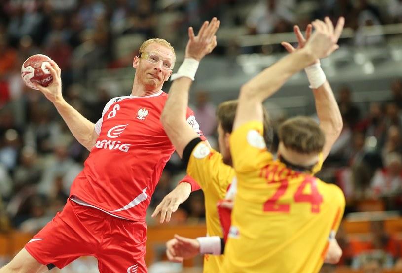Karol Bielecki w meczu z Hiszpanią o brązowy medal MŚ /AFP