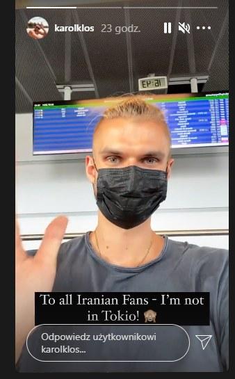 Respuesta de Karol Kos a los comentarios de los fanáticos iraníes (Fuente: Instagram de Karol Kłos) /INTERIA.PL
