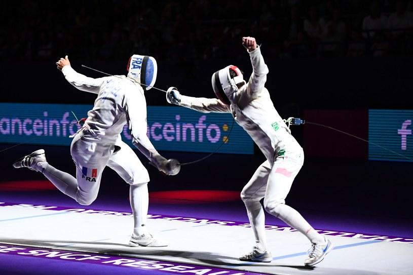 Karol Kostka (z prawej) podczas zawodów w Paryżu /Icon Sport /Newspix