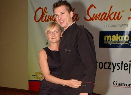 Karol Okrasa z żoną fot. Marek Ulatowski /MWMedia