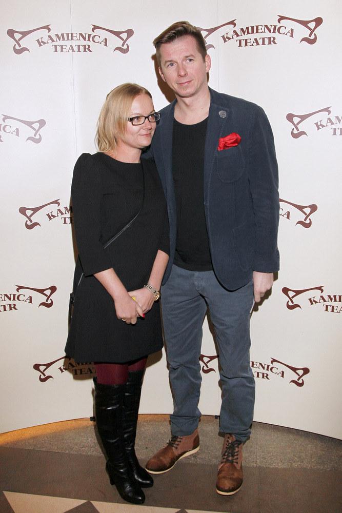 Karol Okrasa z żoną /AKPA