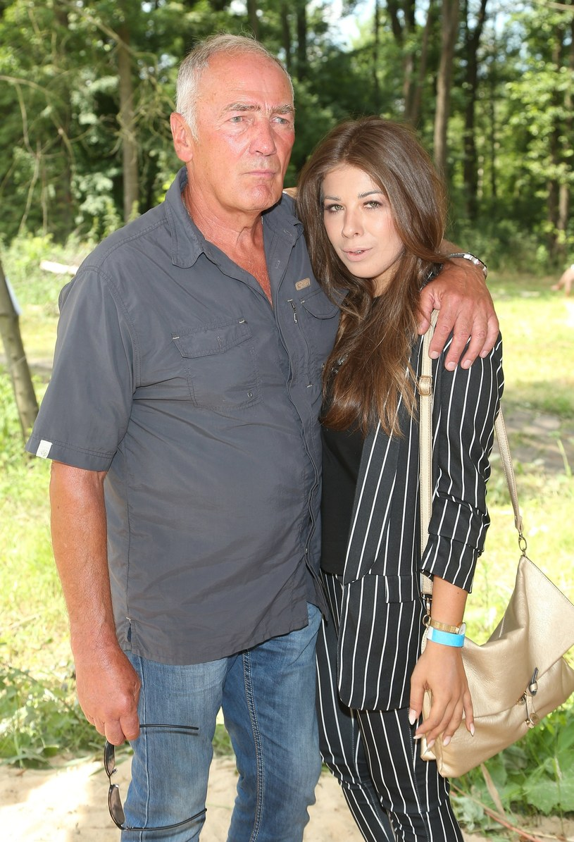 Karol Strasburger z żoną - Małgorzatą Weremczuk /VIPHOTO /East News