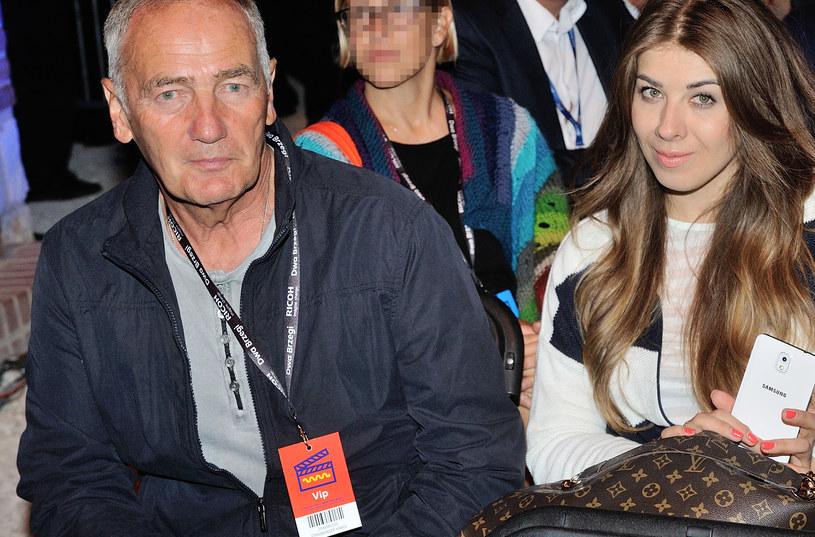 Karol Strasburger z żoną Małgorzatą /MWMedia