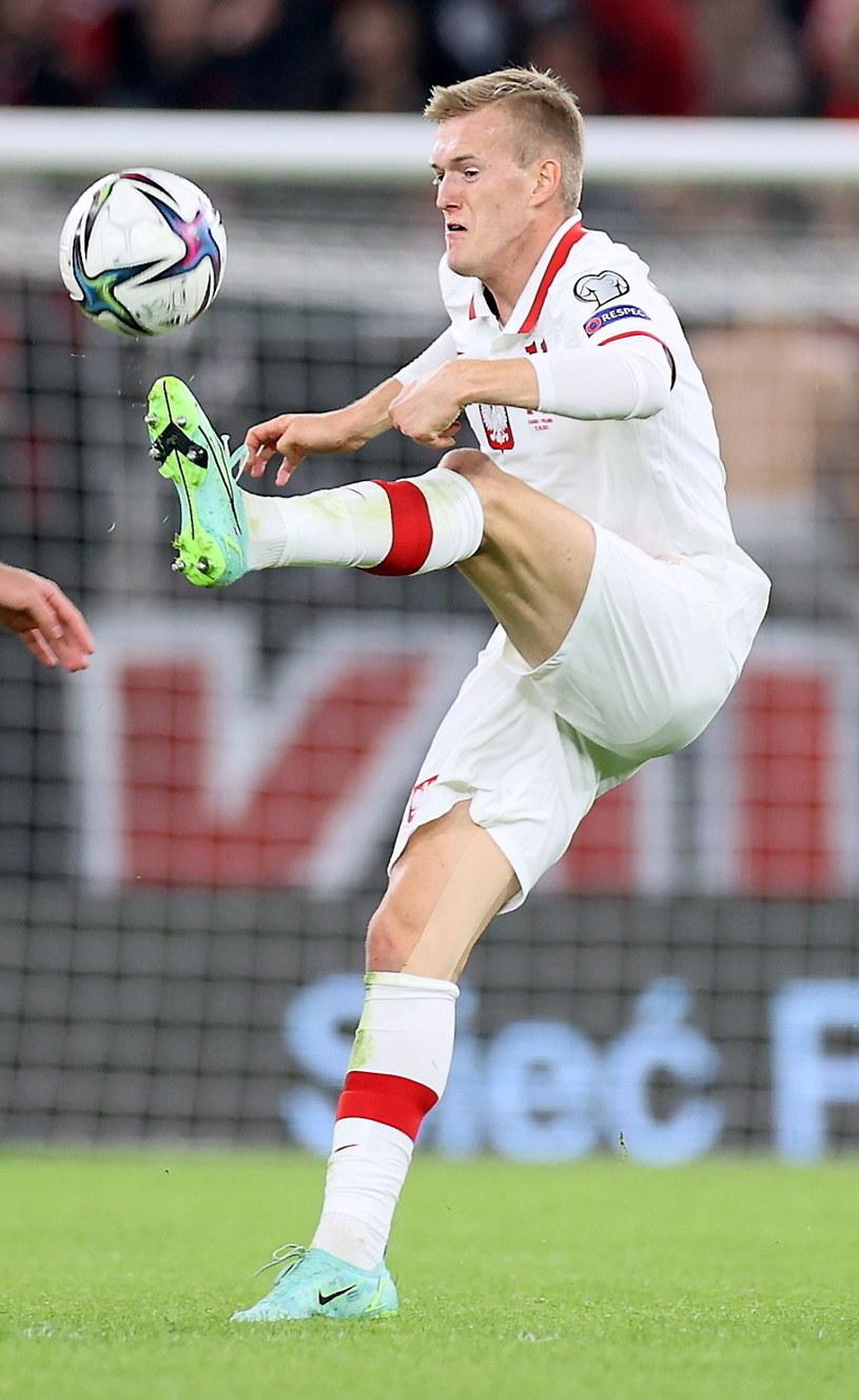Karol Świderski został bohaterem meczu z Albanią. Jest jednym z piłkarskich dzieci Paulo Sousy / Leszek Szymański    /PAP