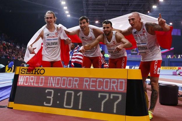 Karol Zalewski, Rafal Omelko, Lukasz Krawczuk i Jakub Krzewina w Birmingham /Han Yan/Photoshot /PAP/EPA