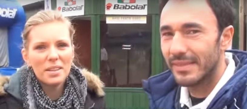 Karolina Boniek i jej mąż Vincenzo Santopadre: /AFP