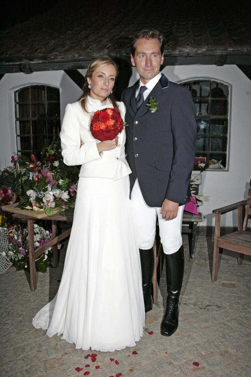 Karolina i Piotr Kraśkowie w dniu ślubu, 2008 rok / Engelbrecht /AKPA