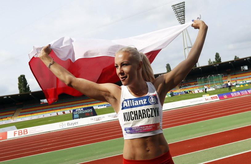 Karolina Kucharczyk - zwyciężczyni konkursu skoków w dal /PAP/EPA/Felipe Trueba /PAP