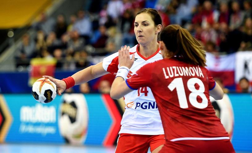 Karolina Kudłacz-Gloc w meczu z Czeszkami /Fot. Marcin Bielecki /PAP