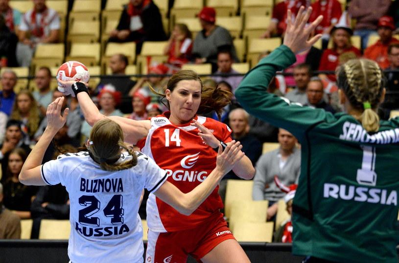 Karolina Kudłacz-Gloc w meczu z Rosją /Fot. Marcin Bielecki /PAP