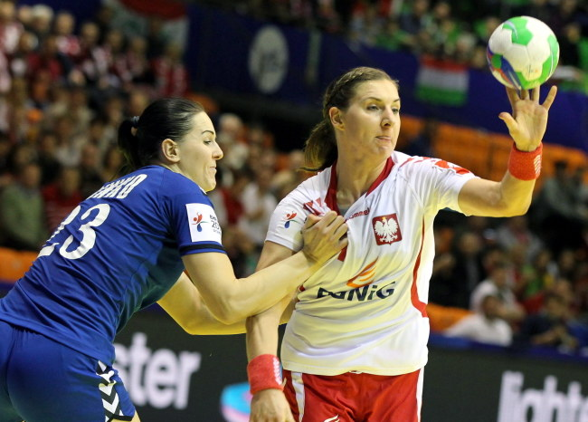 Karolina Kudłacz w meczu z Rosją /Aniko Kovacs /PAP/EPA