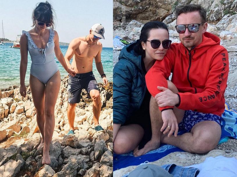 Karolina Małysz i Kamil Czyż, Izabela Małysz i Adam Małysz, fot. izamalysz /Instagram