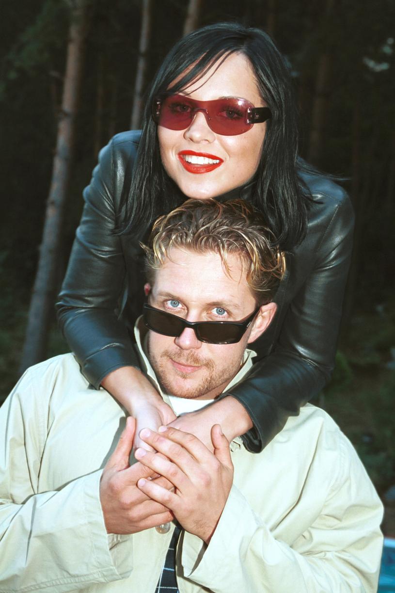 Karolina Pachniewicz i Grzegorz Mielec w 2002 roku /Niemiec /AKPA