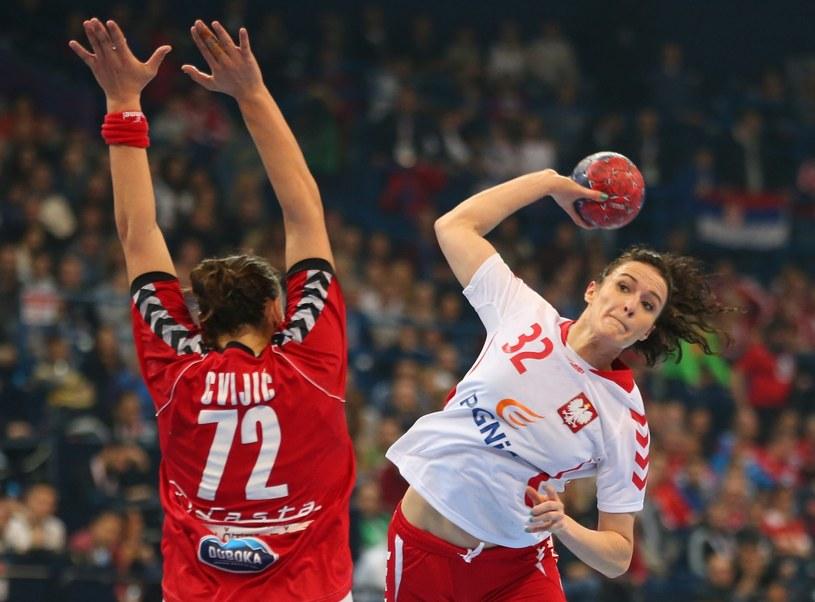 Karolina Szwed-Orneborg (z prawej) w półfinałowym meczu z Serbią /PAP/EPA