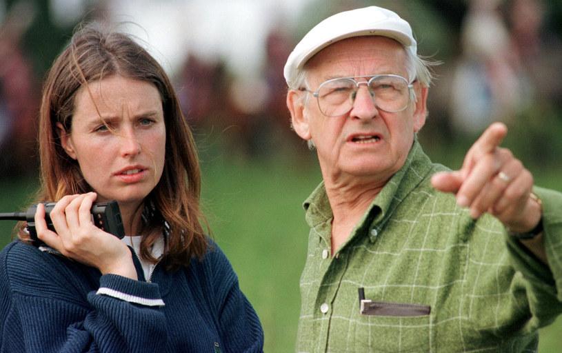 Karolina Wajda i Andrzej Wajda, 1998 r. /Cezary Pecold /Agencja FORUM