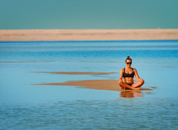 Karolina Winkowska na plaży w Soma Bay /Magdalena Lasocka /archiwum prywatne