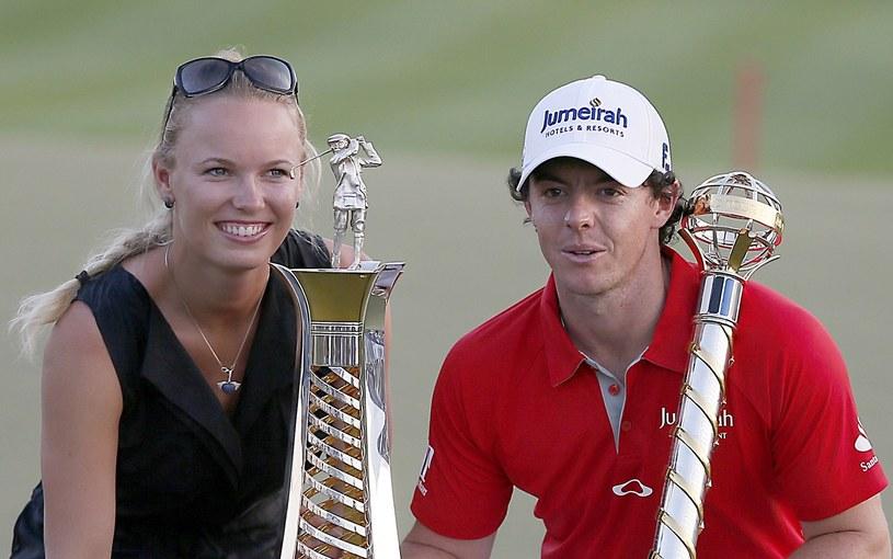 Karolina Woźniacka i Rory McIlroy /AFP