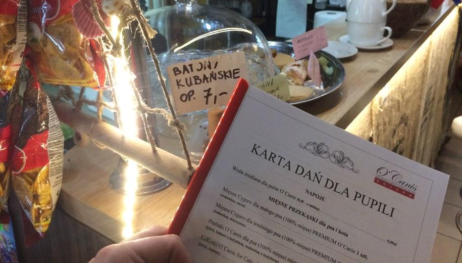 Karta dań dla pupila we wrocławskiej restauracji /Bartłomiej Paulus /RMF FM