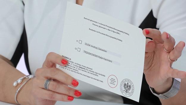 Karta do głosowania w II turze wyborów prezydenckich /Paweł Supernak /PAP