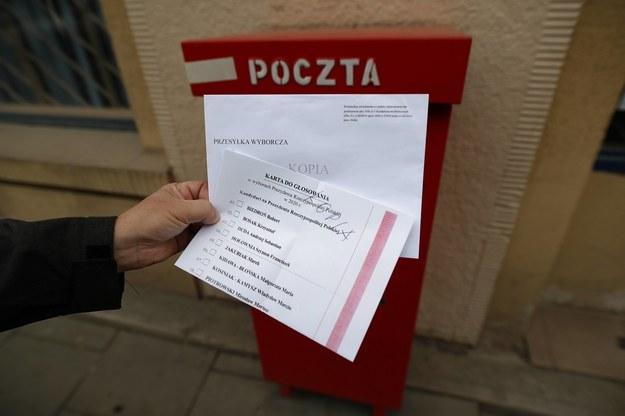 Karta do głosowania w wyborach, które miały odbyć się 10 maja //Łukasz Gągulski /PAP