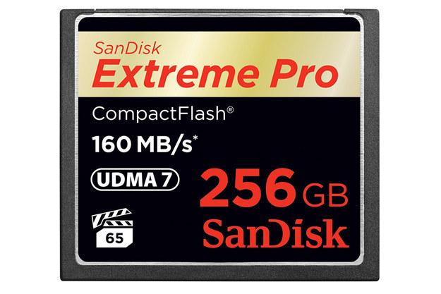 Karta pamięci SanDisk Extreme Pro CompactFlash o pojemności 256 GB /materiały prasowe