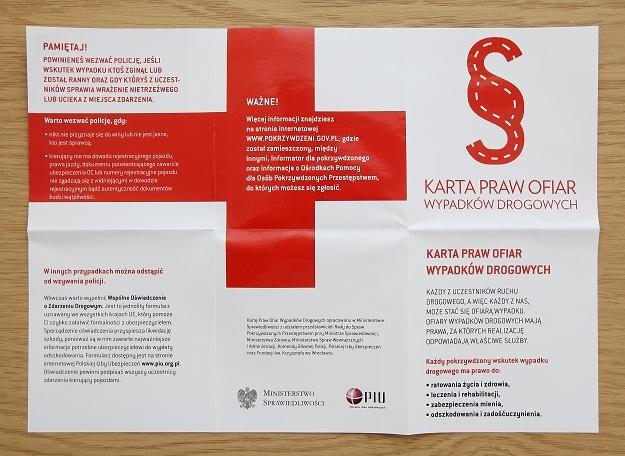 Karta Praw Ofiar Wypadków Drogowych /PAP