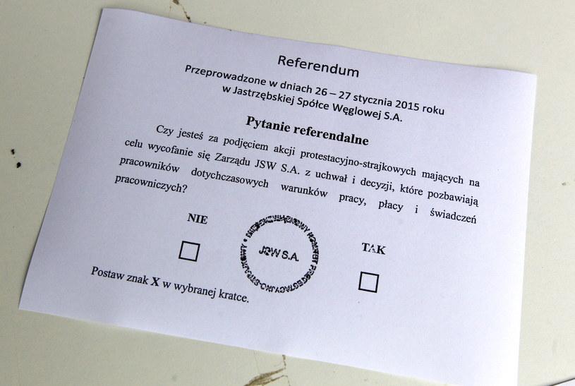 Karta referendalna /Andrzej Grygiel /PAP